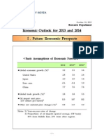 South Korea - Economic Outlook for 2013 and 2014 by The Bank of Korea