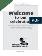 Minnesota Housing Partnership Gala Program-Inside
