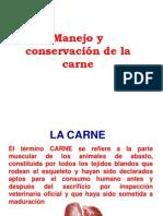 CARACTERÍSTICAS Y CONSERVACIÓN DE LA CARNE
