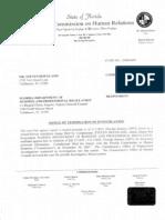 Jim Greer, criminal investigation - Steven Hougland vs. DBPR - Notice of Termination of Investigation