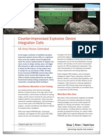 Counter Improvised Explosive Devise Integration Cells