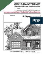 Clopay Garage Door Installation Manual