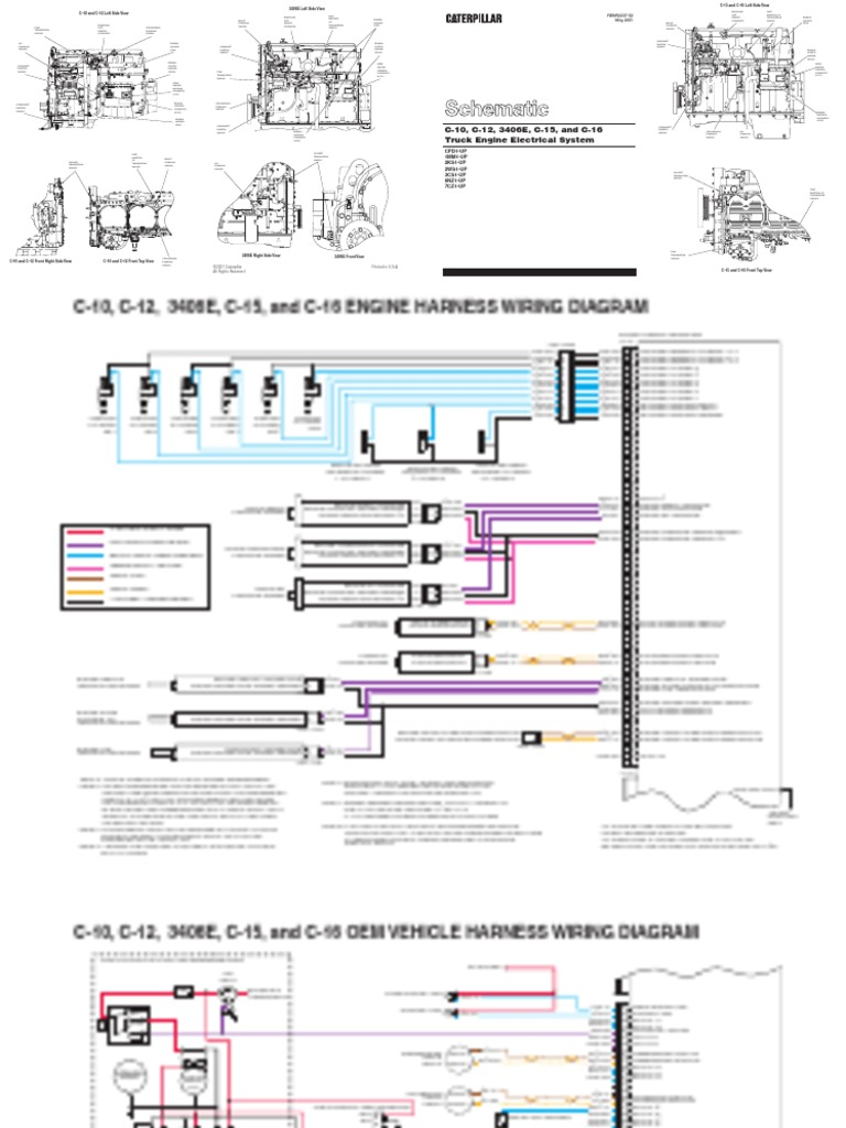 Cat C12 Wiring Diagram 70 Pin | Machine Repair Manual