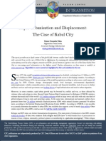 CFC Thematic Report - Rapid Urbanisation and Displacement