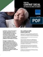 Manifeste FADOQ - pour un contrat social en faveur des aînés