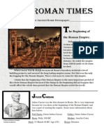 the ancient rome newspaper by miranda brown