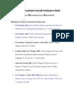 Pakistan Meteorological Department Bibliography