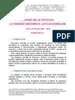 0 Raport de Activitate a Comisiei Metodice