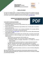 Edital N.071 Seleção Doutorado 2013-2014
