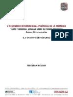 III Circular v Seminario Internacional 2012