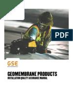 Geomembrane Installation Quality Assurance Manual