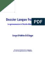 Dossier LangueFrancaise Grammaire