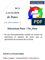 Estructura Repetitiva For