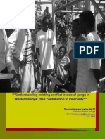 Understanding existing conflict trends of gangs in Western Kenya; their contribution to insecurity