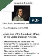 Dr. Benjamin Franklin Report
