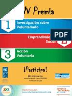 Bases Provisionales Premio Voluntariado Para El Desarrollo