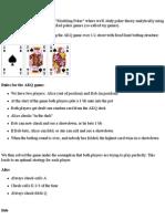 Modeling Poker -2part