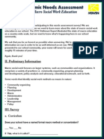 Academic Needs Assessment for Macro Social Work  Education