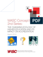 WASC Changing Ecology Concept Papers
