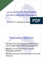 Forecasting Littlefield Laboratories