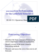 Forecasting Littlefield Laboratories
