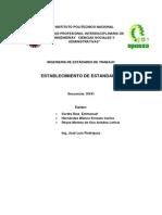 ESTABLECIMIENTO DE ESTÁNDARES