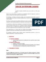 Elaboracion de Un Perfume Casero Proyecto Informe