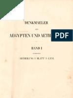 Lepsius, Carl Richard - Denkmäler aus Aegypten und Aethiopien - Band 1 - Topographie und Architektur
