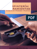 Carpintería - Herramientas (Anaqueles, paredes, puertas)