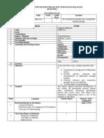 Teaching Plan (Pengajian Malaysia)