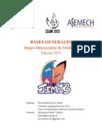 Bases Generales Oficiales JIM UAndes 2013
