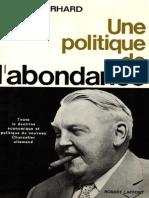 Ludwig Erhard - Une Politique d'Abondance