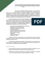 Terminos de Referencia Para La Ampliacion de Belisario Dominguez