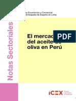 El mercado de aceite de oliva en el  Perú