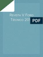 "Revista 2012 V ""Foro Técnico"" Instituto Juan Bosco de Huánuco...."