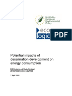 Ieep-potential Impact of Desalination on Energy Consumption