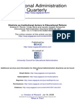 Districts as Institutional Actors in Educational Reform