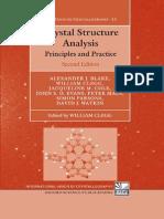 Alexander J Blake, Jacqueline M Cole, Crystallography Texts on Crystallography 2009