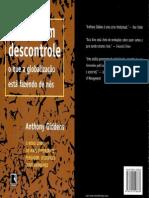 Mundo Em Descontrole (Anthony Giddens)