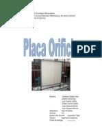 Placa Orificio