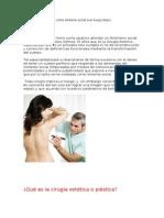 Las cirugías plasticas cómo síntoma socia1
