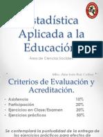 Estadística Aplicada a la EducaciónSES1WEB