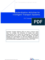 Standardization Activities for Intelligent Transport Systems