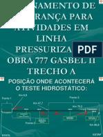 TREINAMENTO SEGURANÇA PARA ATIVIDADES EM LINHA PRESSURIZADA