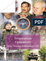 JWP 3-80 Information Operations (MOD) Ministry of Defence,