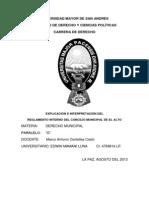 Derecho Municipal Concejo de El Alto