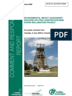 Western Utilities Corporation Proposed Mine Water Reclamation Project Comment and Response Report