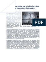 Día Internacional para la Reducción de los desastres Naturales