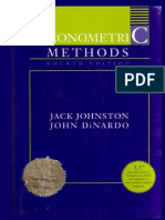 Johnston Dinardo Econometric Methods