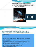 Defectos en Soldadura.